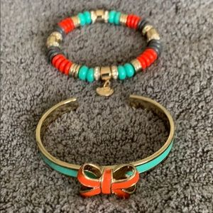 NEW! Vera Bradley 'Aqua/Orange' bracelets.